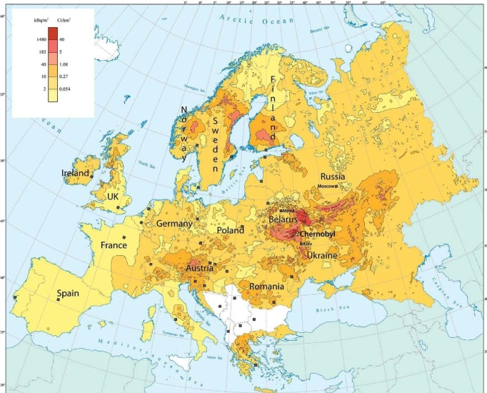 radioactive fallout maps | 20 millisieverts per year